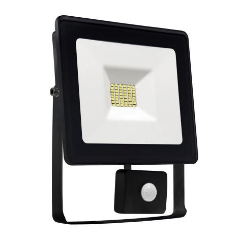 LED Reflektor érzékelős NOCTIS LUX SMD LED/10W/230V IP44 900lm fekete