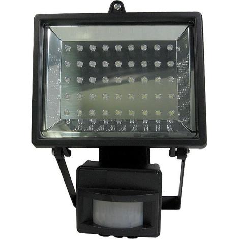 LED reflektor PIR érzékelővel T303 45xLED/3,5W/230V fekete