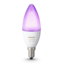 LED RGB Dimmelhető izzó Philips HUE WHITE AND COLOR AMBIANCE E14/6W/230V