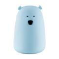 LED RGB érintőképernyős gyerek lámpa BEAR LED / 0,4W / 5V kék + USB