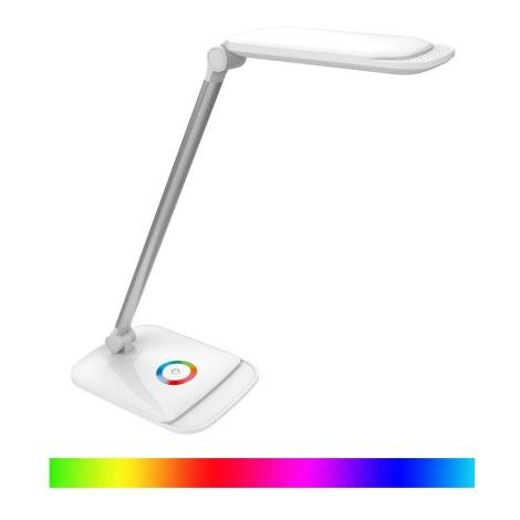 LED RGB Érintős szabályozható asztali lámpa LED/18W/230V + USB