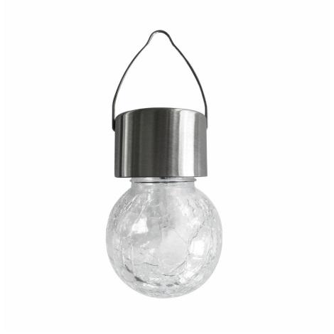 LED RGB Szolár lámpa 1,2V/1xAAA IP44 matt króm