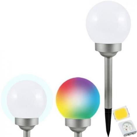 LED RGB Szolár lámpa BALL LED/0,2W/AA 1,2V/600mAh IP44