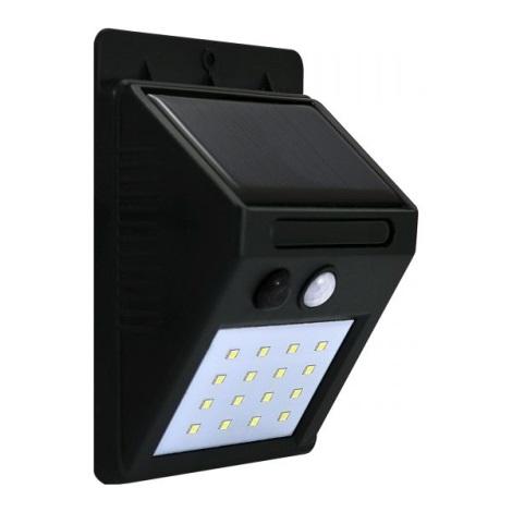 LED Solár érzékelős fali lámpa LED/2,2W