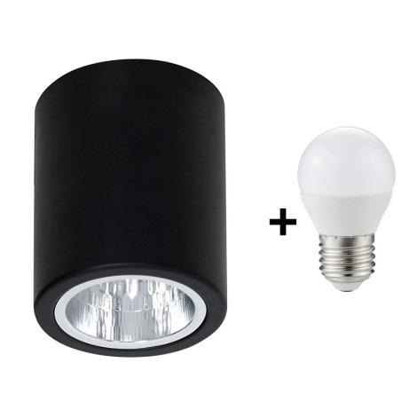 LED Spotlámpa DOWNLIGHT ROUND 1xE27/6W/230V 112x90mm