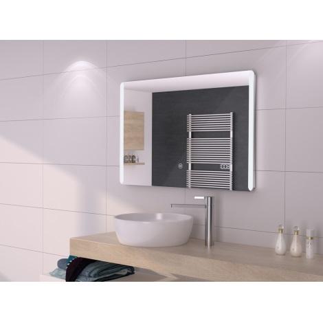 LED Szabályozható fürdőszobai tükör lámpával 800x600mm