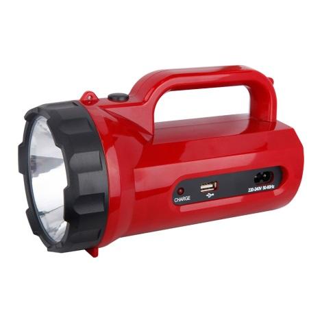 LED tölthető lámpa 1xLED/5W/4V piros