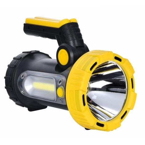 LED Tölthető lámpa LED/5W/4000mA + LED/3W