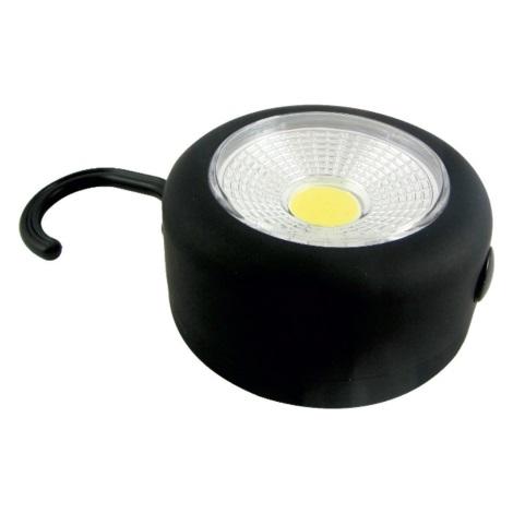 LED Zseblámpa pántal és mágnessel LED/3W/3xAAA