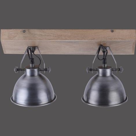 Leuchten Direkt 11982-77 - Spotlámpa SAMIA 2xE14/40W/230V ezüst