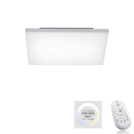 Leuchten Direkt 15551-16 - LED Dimmelhető mennyezeti lámpa CANVAS LED/24W/230V + távirányító