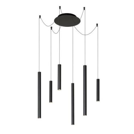 Lucide 74403/06/30 - LED Dimmelhető csillár zsinóron LORENZ 6xLED/4W/230V fekete