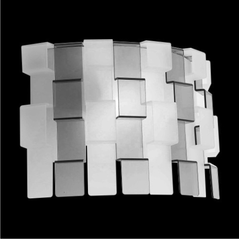 LUXERA 18042 - ZIG ZAG fali lámpa 1xE27/60W