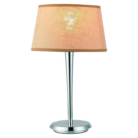 LUXERA 18051 - COMBO asztali lámpa 1xE27/60W bézs