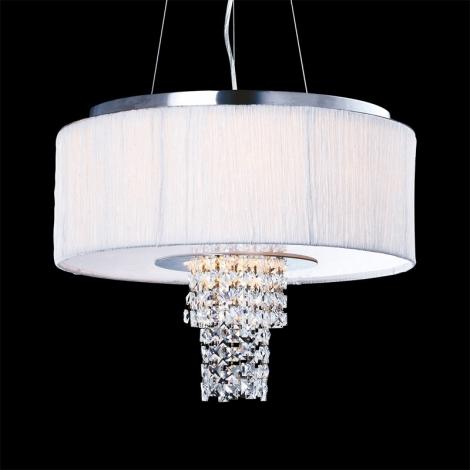 Luxera 33500 - Függesztékes mennyezeti lámpa Pashmina 6XE14/40W/230V