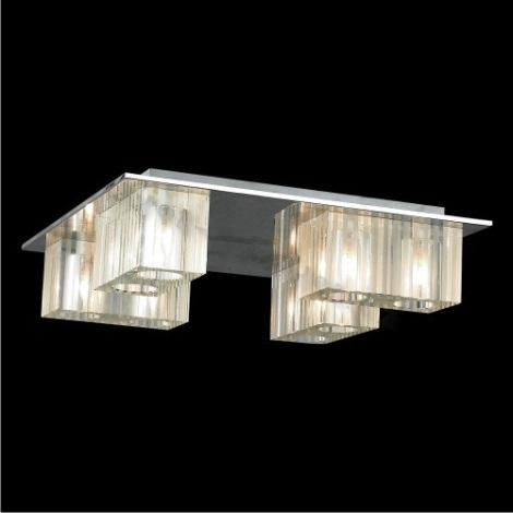 LUXERA 46016 - VAMP mennyezeti lámpa 8xG9/40W üveg/rozsdamentes acél