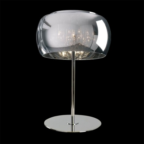 LUXERA 46053 - SPHERA asztali lámpa 3xG9/42W króm