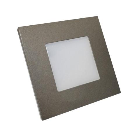 Luxera 48305 - LED-es helyzetjelző lámpa  STEP LIGHT 16xLED SMD/1W/230V