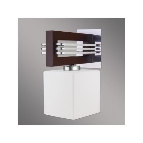LUXERA 51250 - SANGA fali lámpa 1xE14/60W barna
