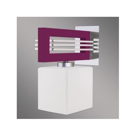 LUXERA 51260 - SANGA fali lámpa 1xE14/60W lila