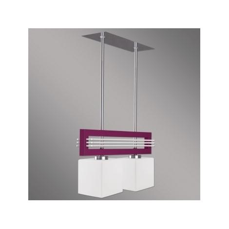 LUXERA 51262 - SANGA fali lámpa 2xE14/60W lila
