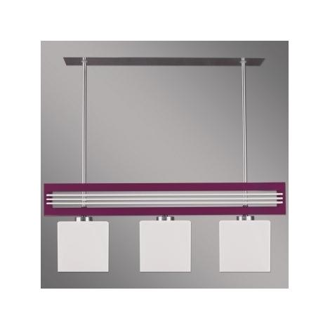 LUXERA 51263 - SANGA függeszték 3xE14/60W lila