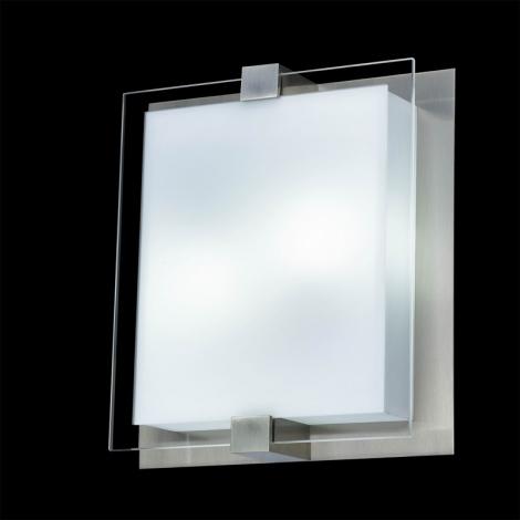 LUXERA 62009 - SHARP mennyezeti lámpa 2xE27/18W matt króm
