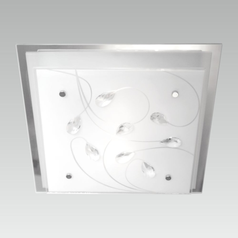 LUXERA 65107 - IKAROS KRISTAL mennyezeti lámpa 3xE27/60W