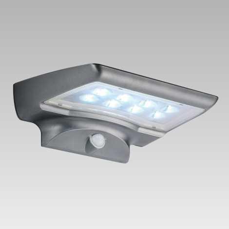 Luxera 65251 - Kültéri fali lámpa a mozgásérzékelős STARGATE 8xLED/0,5W/5,4V
