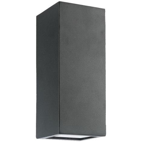 Luxera 65252 - Kültéri fali lámpa BLOCK 2xLED/1,5W/230V