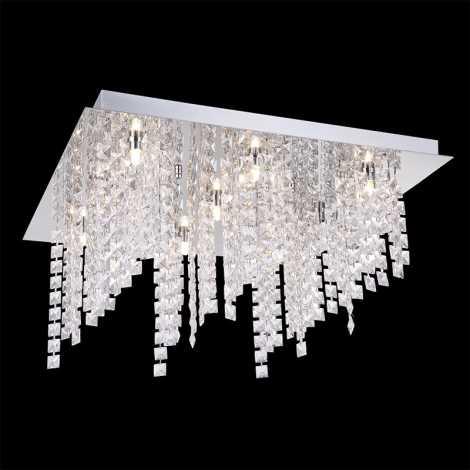 Luxera 69024 - Mennyezeti kristály lámpa CHIMERA 9xG9/33W/230V