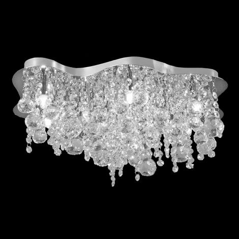 Luxera 69051 - Mennyezeti kristály lámpa MOBY 10xG9/33W/230V