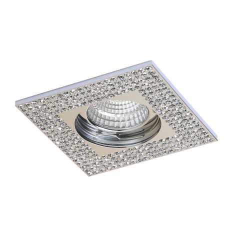 Luxera 71078 - Mennyezeti lámpa CRYSTALS 1xGU10/50W/230V kristály