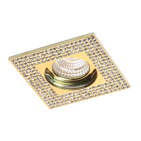 Luxera 71079 - Mennyezeti lámpa CRYSTALS 1xGU10/50W/230V kristály