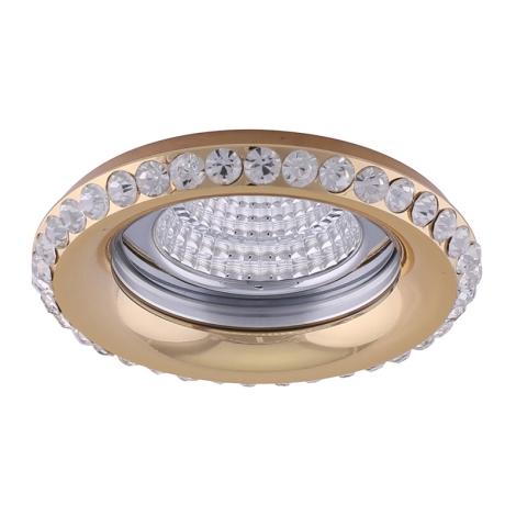 Luxera 71081 - Mennyezeti lámpa CRYSTALS 1xGU10/50W/230V kristály