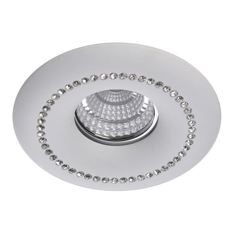 Luxera 71090 - Mennyezeti lámpa CRYSTALS 1xGU10/50W/230V kristály