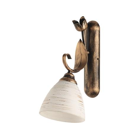 MALAGA fali lámpa 1xE27/60W antik barna