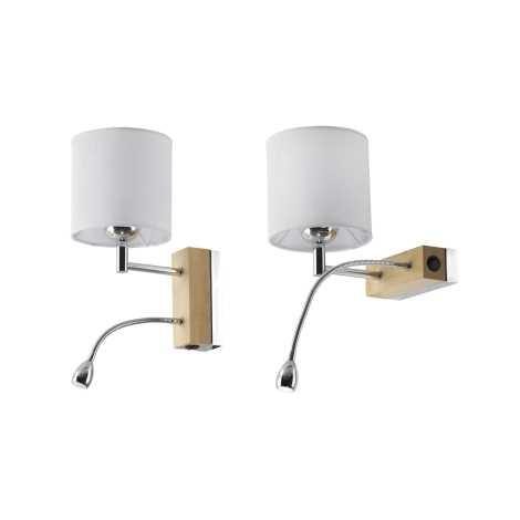 MANGO MA K D - LED fali lámpa 1xE27/60W + LED/1W/230V