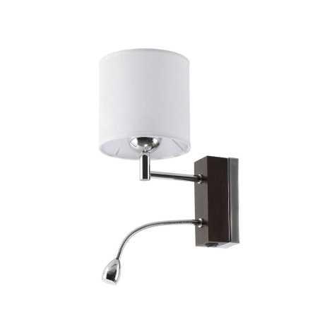 MANGO MAK V - LED fali lámpa 1xE27/60W + LED/1W/230V