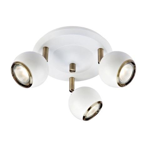 Markslöjd 106875 - Spotlámpa COCO 3xGU10/35W/230V fehér