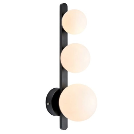 Markslöjd 108068 - Fürdőszobai fali lámpa PURO 3xG9/20W/230V IP44 fekete