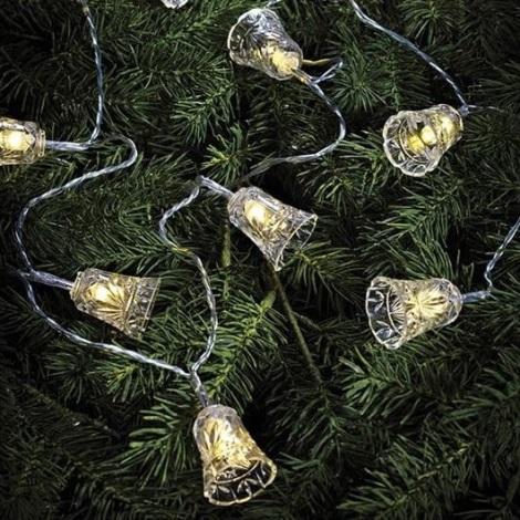 Markslöjd 703237 - LED Karácsonyi lánc BELL 10xLED/0,5W/4,5V