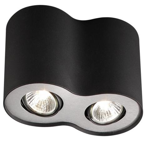Massive 56332/30/10 - Mennyezeti lámpa NERO 2xGU10/50W/230V