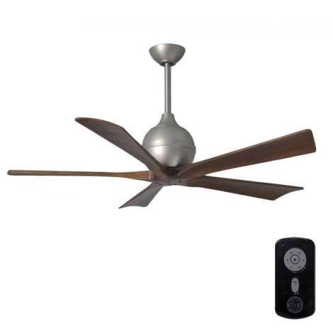 Matthews VEN-IR5-52 - Mennyezeti ventilátor  IRENE 52″ matt nikkel/dió