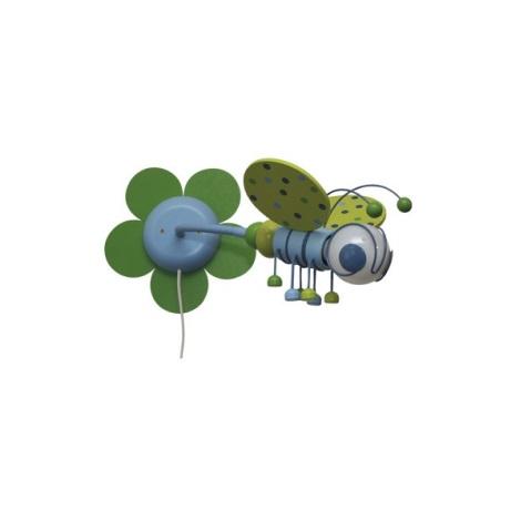 MÉHECSKE zöld/világoskék 1xE27/60W + kapcsoló