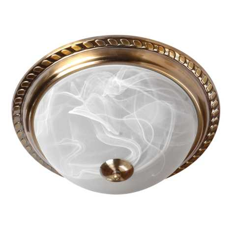 Mennyezeti lámpa 2xE27/60W bronz/alabástrom
