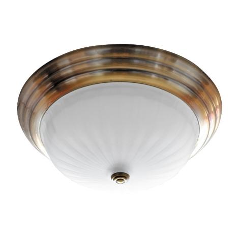 Mennyezeti lámpa 2xE27/60W bronz/sklo proužky