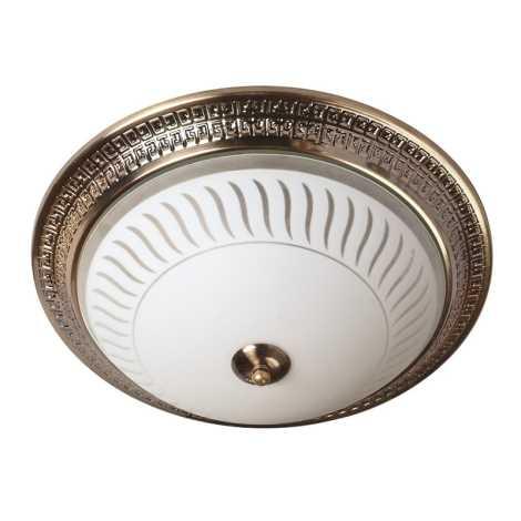 Mennyezeti lámpa 2xE27/60W bronz/uveg csíkok