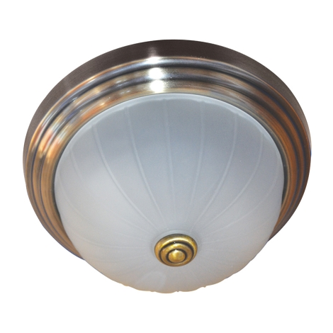 Mennyezeti lámpa 2xE27/60W bronz/üveg gyűrűk