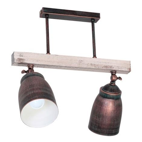 Mennyezeti lámpa ALEJO 2xE27/60W/230V